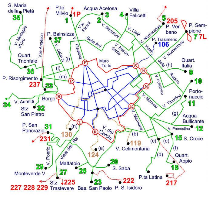 Cartina Tram Roma.La Riforma Tramviaria Del 1 Gennaio 1930 Rev D1