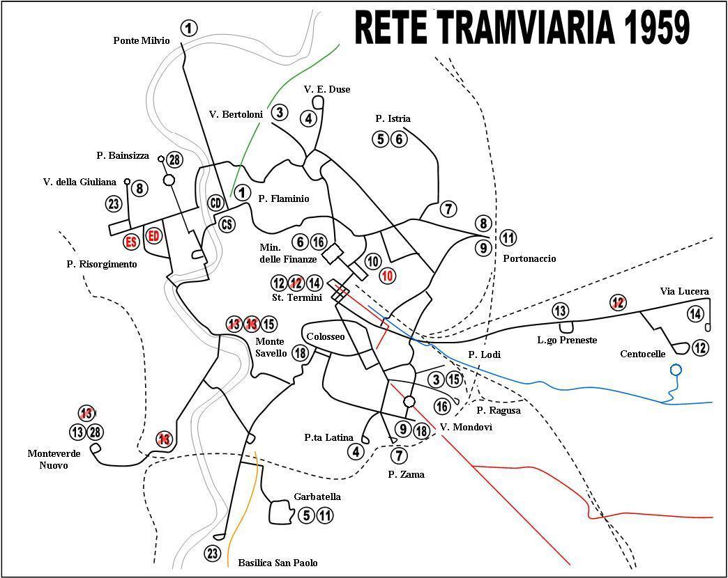 Cartina Tram Roma.Il Dopoguerra E Gli Anni Cinquanta Rev C