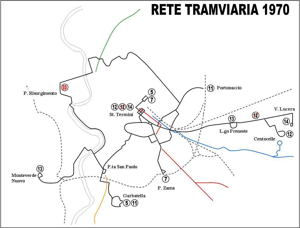 Cartina Tram Roma.Dal 1960 Al 1980 La Distruzione Della Rete Tramviaria Romana
